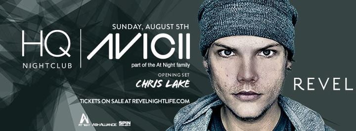 avicii live at HQ nightclub in Atlantic City on Sunday August 5th, 2012