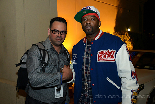 Dan Caruso With Treach From Naughty By Nature