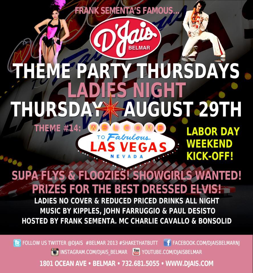 D'jais Theme Party Thursdays 2013 Schedule